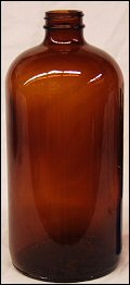 32 Oz. Amber  Glass Bottle