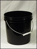 2 Gallon Black  Plastic Pail