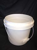 3.5 Gallon White  Plastic Pail