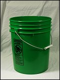 5 Gallon Green  Plastic Pail