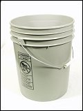 5 Gallon Gray  Plastic Pail