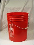 5 Gallon Orange  Plastic Pail