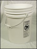 5.5 Gallon White  Plastic Pail