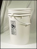 6 Gallon White  Plastic Pail