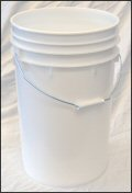 6.5 Gallon White  Plastic Pail